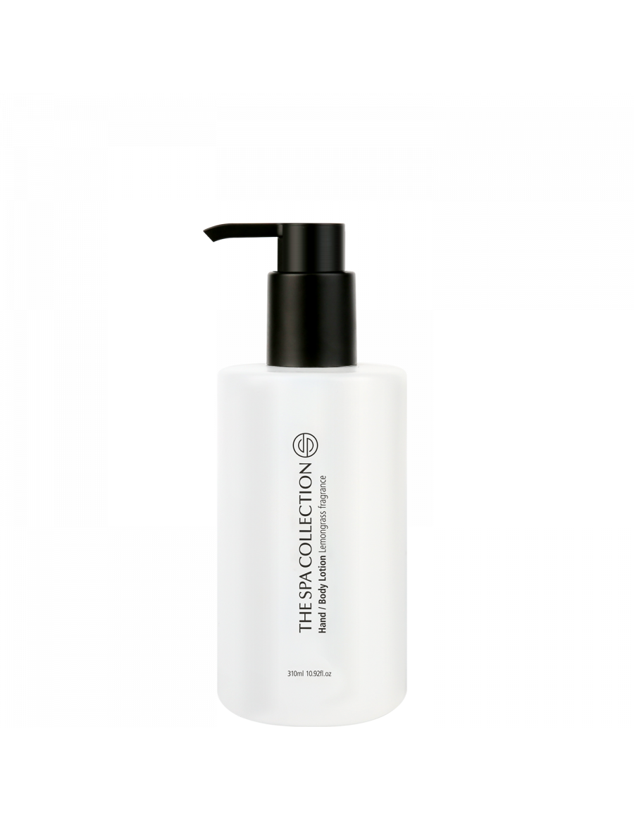 Hand and body lotion - The Spa Collection lemongrass black pump 310ml