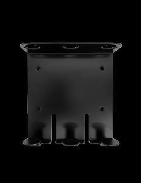 Zwarte Triple Wandhouder voor 400 ml Pompflacon