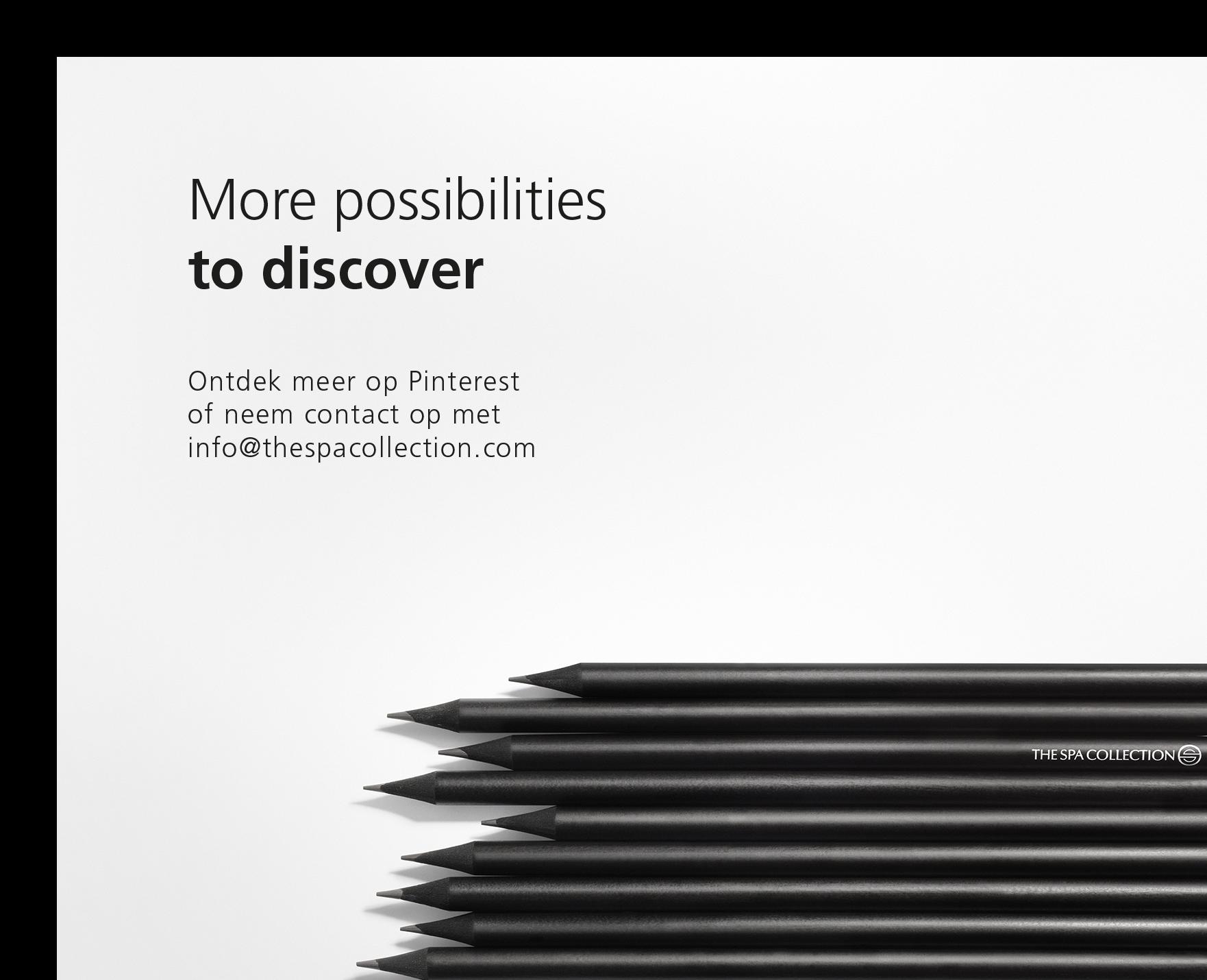 More possibilities to discover. Ontdek meer op Pinterest of neem contact op met info@thespacollection.com.